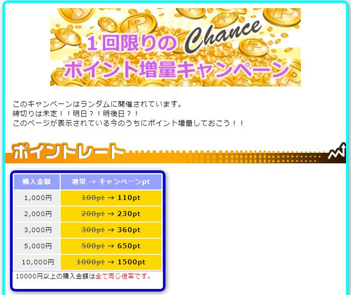 PCMAXポイント増量キャンペーン